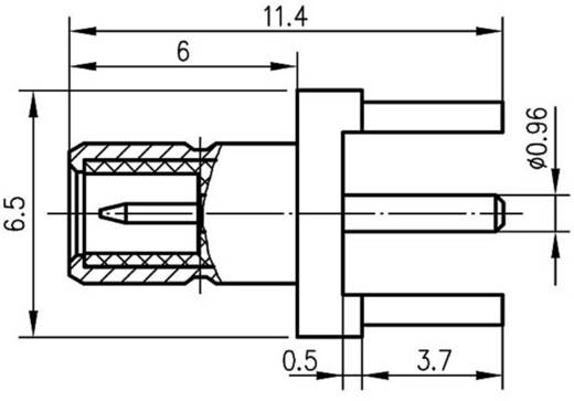 SMB-Steckverbinder Stecker, Einbau vertikal 50 Ω Telegärtner J01160A0211 1 St.