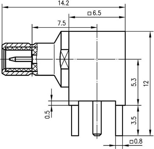 SMB-Steckverbinder Stecker, Einbau horizontal 50 Ω Telegärtner J01160A0231 1 St.
