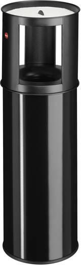 Mülleimer 25 l Hailo ProfiLine care 25 (Ø x H) 260 mm x 800 mm Schwarz Inkl. Aschenbecher, Flammlöschende Deckelkonstruk