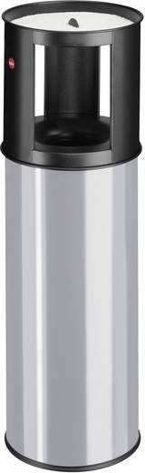Mülleimer 25 l Hailo ProfiLine care 25 (Ø x H) 260 mm x 800 mm Silber-Grau Inkl. Aschenbecher, Flammlöschende Deckelkons