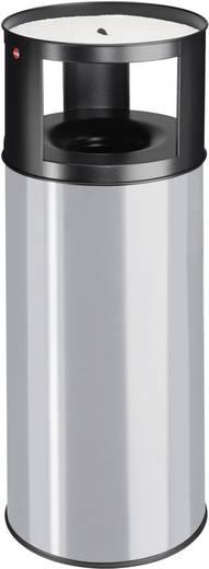 Mülleimer 75 l Hailo ProfiLine care 75 (Ø x H) 390 mm x 960 mm Silber-Grau Inkl. Aschenbecher 1 St.