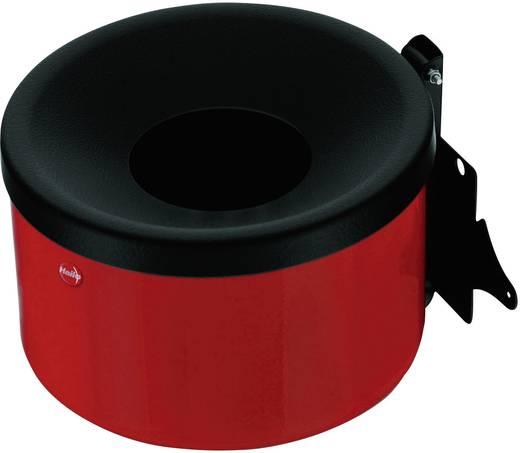 Aschenbecher 1 l Hailo ProfiLine Easy XS (Ø x H) 170 mm x 110 mm Karmin-Rot Inkl. Wandhalterung 1 St.