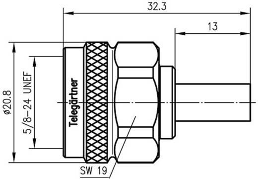 N-Steckverbinder Stecker, gerade 50 Ω Telegärtner J01020A0113 1 St.