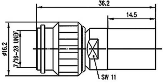 TNC-Steckverbinder Stecker, gerade 50 Ω Telegärtner J01010A0052 1 St.