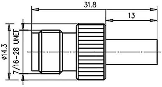 TNC-Steckverbinder Buchse, gerade 50 Ω Telegärtner J01011A2287 1 St.