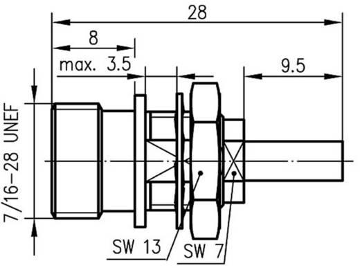 TNC-Steckverbinder Buchse, Einbau 50 Ω Telegärtner J01011A0023 1 St.