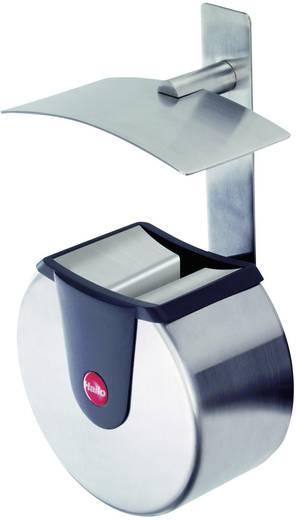 Aschenbecher 1.5 l Hailo ProfiLine Easy pro XS (Ø x H) 160 mm x 110 mm Edelstahl Inkl. Wandhalterung 1 St.
