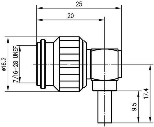 TNC-Steckverbinder Stecker, gewinkelt 50 Ω Telegärtner J01010B0012 1 St.