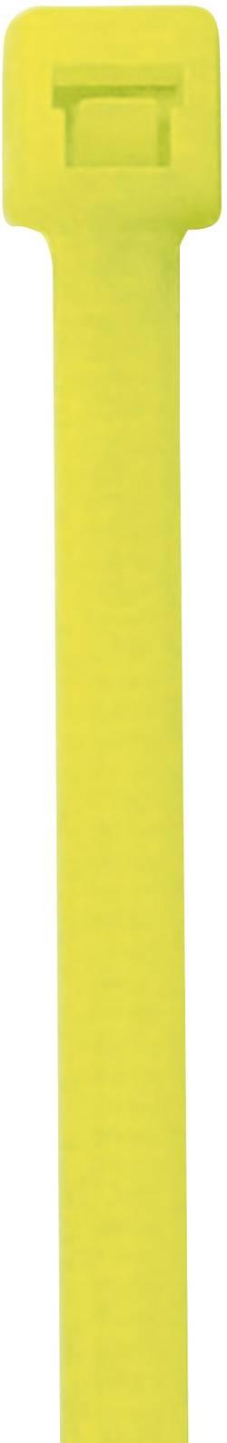 Fluorecentní stahovací pásek PB Fastener, 285 x 4,6 mm, 50 ks, žlutá