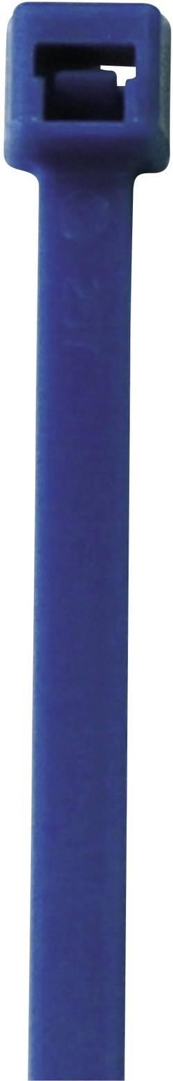 Fluorecentní stahovací pásek PB Fastener, 285 x 4,6 mm, 50 ks, modrá