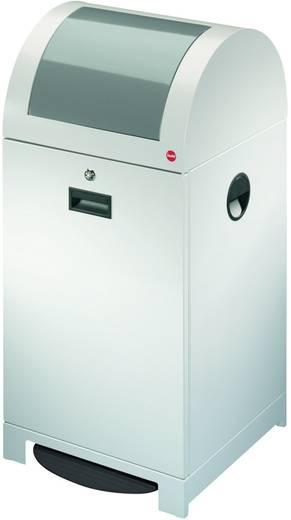 Mülleimer 40 l Hailo ProfiLine WSB 40P (B x H x T) 400 x 770 x 400 mm Weißaluminium Fuß-Tretmechanik 1 St.