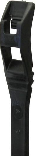 Kabelbinder 370 mm Schwarz mit flacher Kopfgeometrie, UV-stabilisiert PB Fastener LP-14-050-UV 25 St.