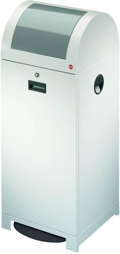 Mülleimer 70 l Hailo ProfiLine WSB 70P (B x H x T) 400 x 1020 x 400 mm Weißaluminium Fuß-Tretmechanik 1 St.