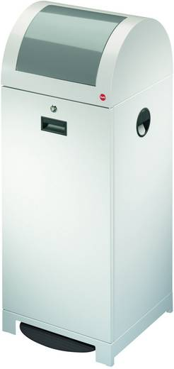 Mülleimer 70 l Hailo ProfiLine WSB plus XXL (B x H x T) 400 x 1020 x 400 mm Weißaluminium Fuß-Tretmechanik 1 St.