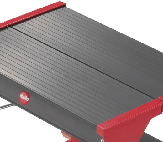Aluminium Doppel-Klapptritt klappbar Arbeitshöhe (max.): 2.40 m Hailo ChampionsLine L90 225 4423-001 Silber, Schwarz, Ro