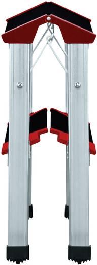 Aluminium Doppel-Klapptritt klappbar Arbeitshöhe (max.): 2.20 m Hailo ChampionsLine L90 225 4422-001 Silber, Schwarz, Ro