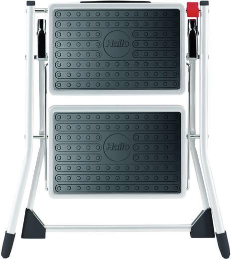 Stahl Montagetritt klappbar Arbeitshöhe (max.): 2.25 m Hailo 4310-001 Weiß, Schwarz 3.6 kg