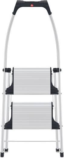 Aluminium Klapptritt klappbar Arbeitshöhe (max.): 2.25 m Hailo LivingStep Comfort Plus 4302-301 Silber, Schwarz 5.2 kg