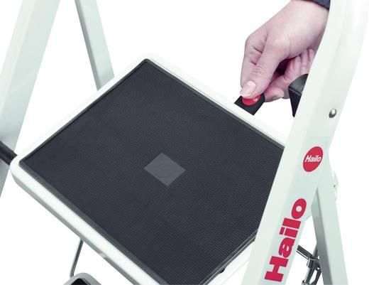 Stahl Klapptritt klappbar Arbeitshöhe (max.): 2.25 m Hailo K20 4396-901 Schwarz, Stahl 5.2 kg