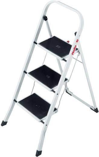 Stahl Klapptritt klappbar Arbeitshöhe (max.): 2.45 m Hailo K20 4397-901 Schwarz, Stahl 6.5 kg