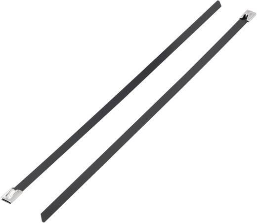 Kabelbinder 127 mm Schwarz mit Beschichtung KSS 1091190 BSTC-127 1 St.