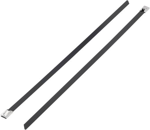 Kabelbinder 152 mm Schwarz mit Beschichtung KSS 1091191 BSTC-152 1 St.