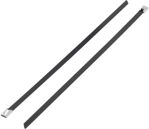 Kabelbinder 300 mm Schwarz mit Beschichtung KSS 1091195 BSTC-300 1 St.