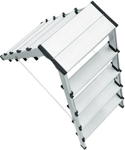 Aluminium Stufen-Doppelleiter Arbeitshöhe (max.): 2.65 m Hailo 8655-001 Silber 5 kg