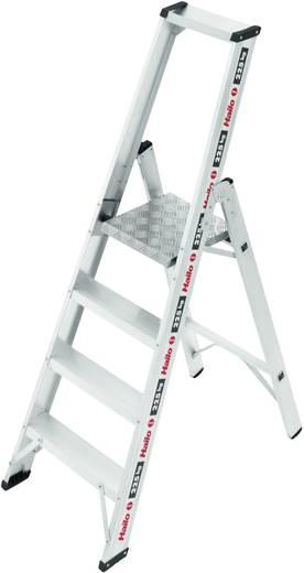Aluminium Stufen-Stehleiter Arbeitshöhe (max.): 2.60 m Hailo ChampionsLine P225 8204-001 Silber 7.6 kg