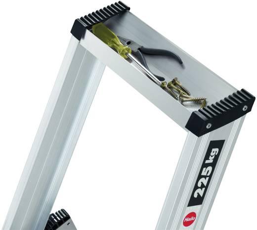 Aluminium Stufen-Stehleiter Arbeitshöhe (max.): 2.80 m Hailo ChampionsLine P225 8205-001 Silber 8.5 kg