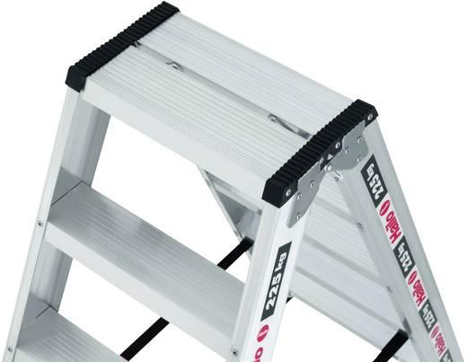 Aluminium Stufen-Doppelleiter Arbeitshöhe (max.): 2.40 m Hailo ChampionsLine D225 8725-001 Silber 7 kg