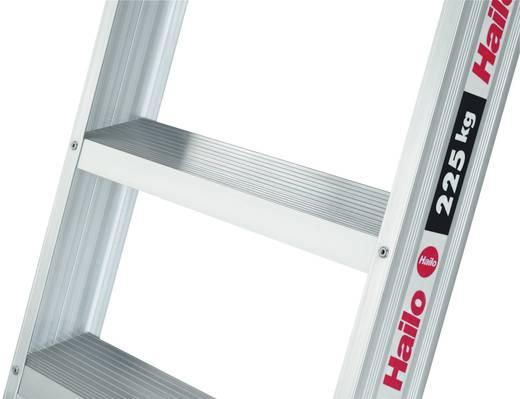 Aluminium Anlegeleiter Arbeitshöhe (max.): 2.85 m Hailo ChampionsLine A225 7108-501 Silber 5.6 kg