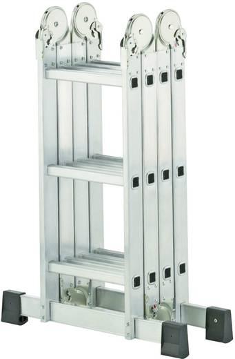 Aluminium Mehrzweckleiter Arbeitshöhe (max.): 4.35 m Hailo ProfiStep combi 7412-031 Silber 18 kg