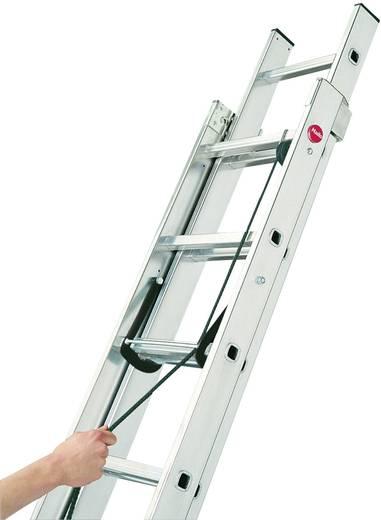 Aluminium Schiebeleiter Arbeitshöhe (max.): 8.45 m Hailo ProfiStep duo 7285-001 Silber 21 kg