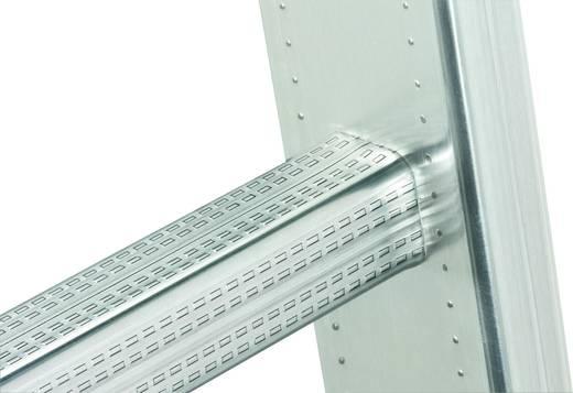 Aluminium Schiebeleiter Arbeitshöhe (max.): 9.50 m Hailo ProfiStep duo 7218-001 Silber 25 kg