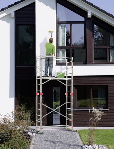 aluminium ger st fahrbar arbeitsh he max m hailo 1 2 3 500 combi 9459 501 silber rot. Black Bedroom Furniture Sets. Home Design Ideas