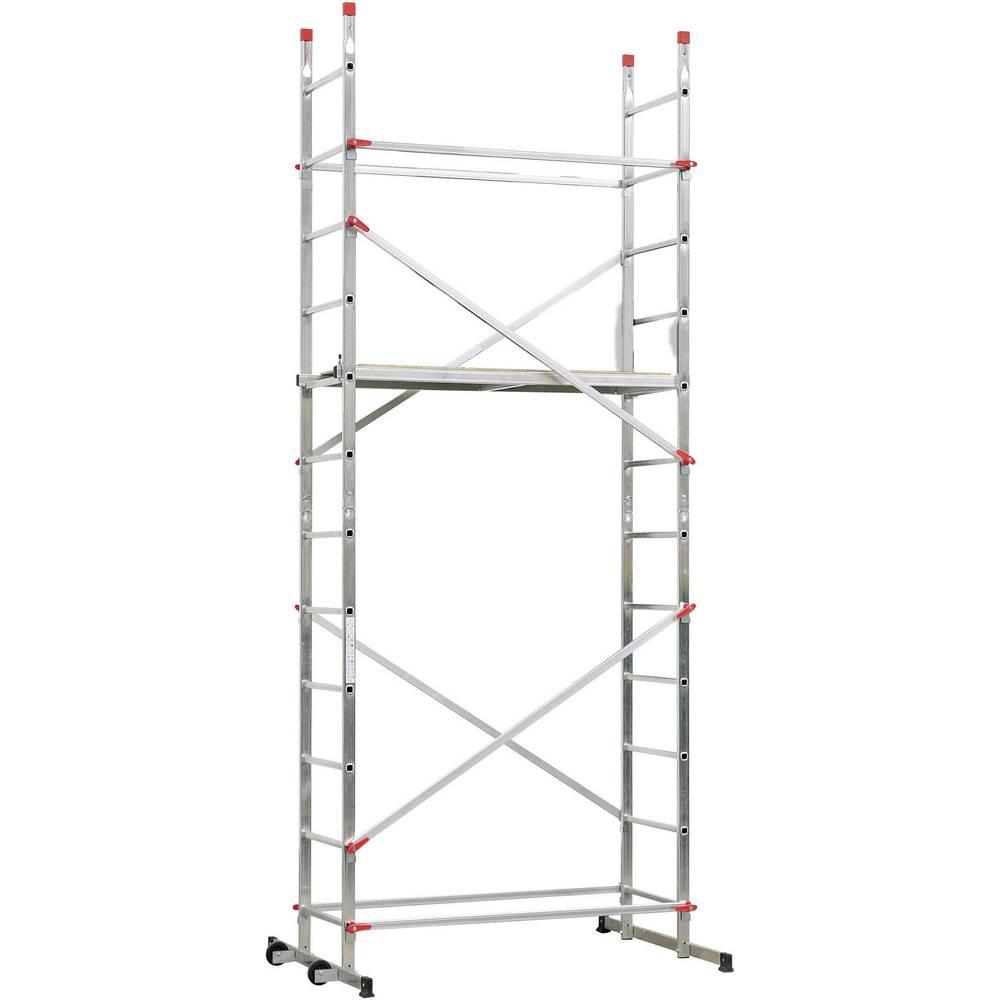 Trabattello mobile Alluminio Altezza operativa max: 4.40 m