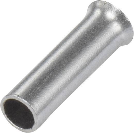 Aderendhülse 1 x 4 mm² x 10 mm Unisoliert Metall Conrad Components 1091267 100 St.