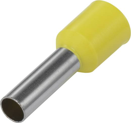 Aderendhülse 1 x 6 mm² x 12 mm Teilisoliert Gelb Conrad Components 1091278 100 St.