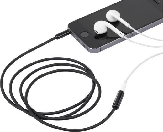 Klinke 4pol. Audio Verlängerungskabel [1x Klinkenstecker 3.5 mm - 1x Klinkenbuchse 3.5 mm] 1 m Schwarz vergoldete Steckk