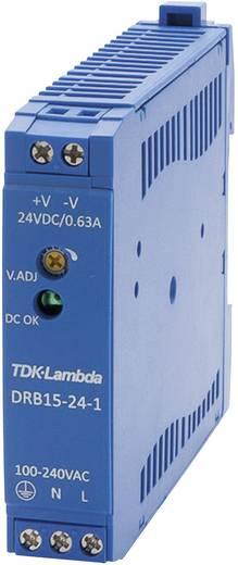 Hutschienen-Netzteil (DIN-Rail) TDK-Lambda DRB-15-24-1 24 V/DC 0.63 A 15 W 1 x