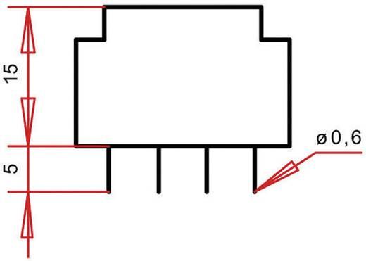 Printtransformator 1 x 230 V 2 x 6 V/AC 0.35 VA 29 mA PT151202 Gerth