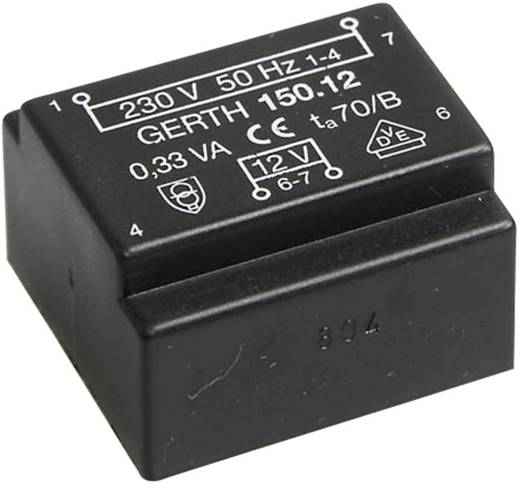 Printtransformator 1 x 230 V 2 x 15 V/AC 0.35 VA 11 mA PT153002 Gerth