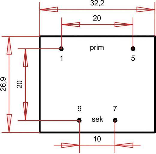 Printtransformator 1 x 230 V 1 x 18 V/AC 1.80 VA 100 mA PT301801 Gerth