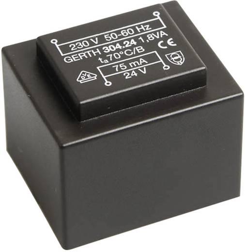 Printtransformator 1 x 230 V 2 x 9 V/AC 1.80 VA 100 mA PT301802 Gerth