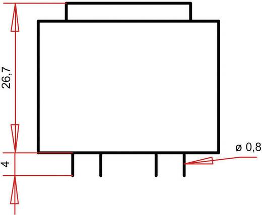 Printtransformator 1 x 230 V 2 x 18 V/AC 1.80 VA 50 mA PT303602 Gerth