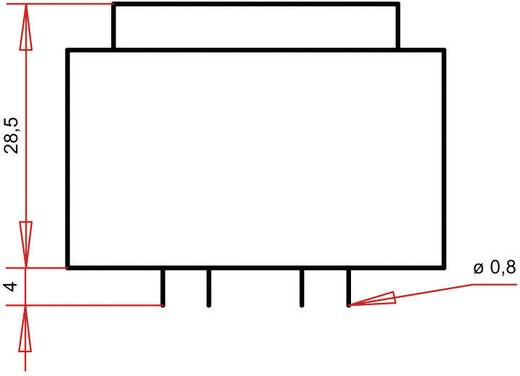 Printtransformator 1 x 230 V 1 x 18 V/AC 3.60 VA 200 mA PTG381801 Gerth