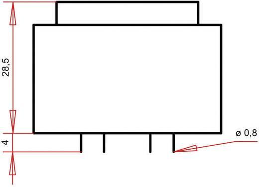 Printtransformator 1 x 230 V 2 x 12 V/AC 3.60 VA 150 mA PTG382402 Gerth