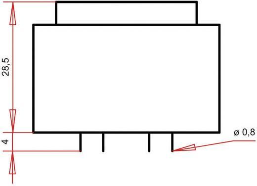 Printtransformator 1 x 230 V 2 x 24 V/AC 3.60 VA 75 mA PTG384802 Gerth