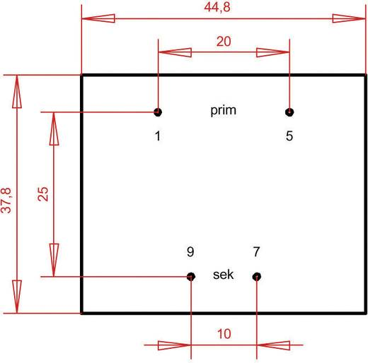 Printtransformator 1 x 230 V 1 x 9 V/AC 4.80 VA 533 mA PT420901 Gerth